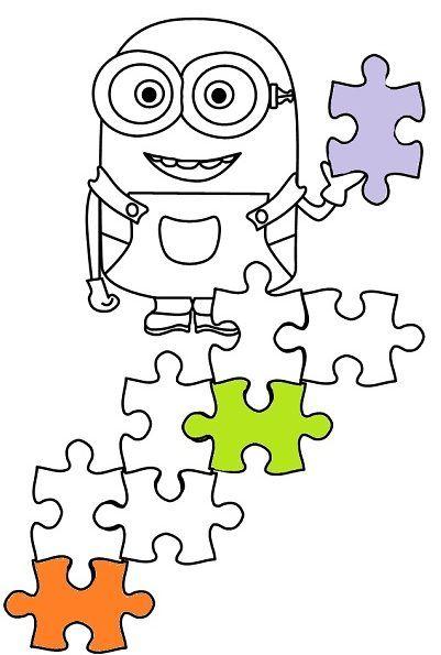 Minionek Puzzle