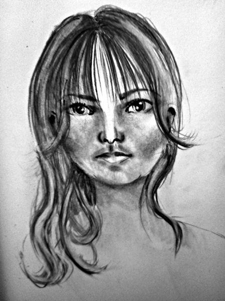 rysunki portretowe z pamięci