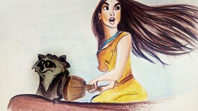 Rysunek postaci Disneya