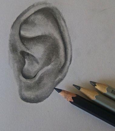 Jak narysować ucho krok po kroku