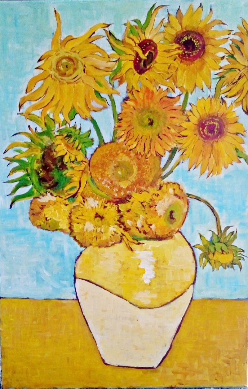 jak krok po kroku namalować słoneczniki van gogha