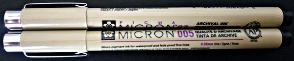 czarne cienkopisy sakura pigma micron