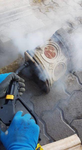 czyszczenie zabytków parą wodną