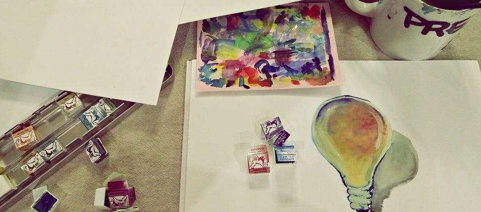 malowanie akwarelami