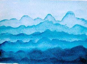 góry malowane akwarelami