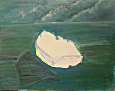 jak namalować łódkę na morzu