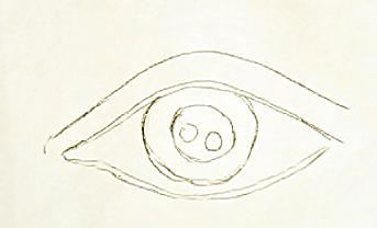 szkic oka ołówkiem