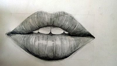 Realistyczny rysunek ust