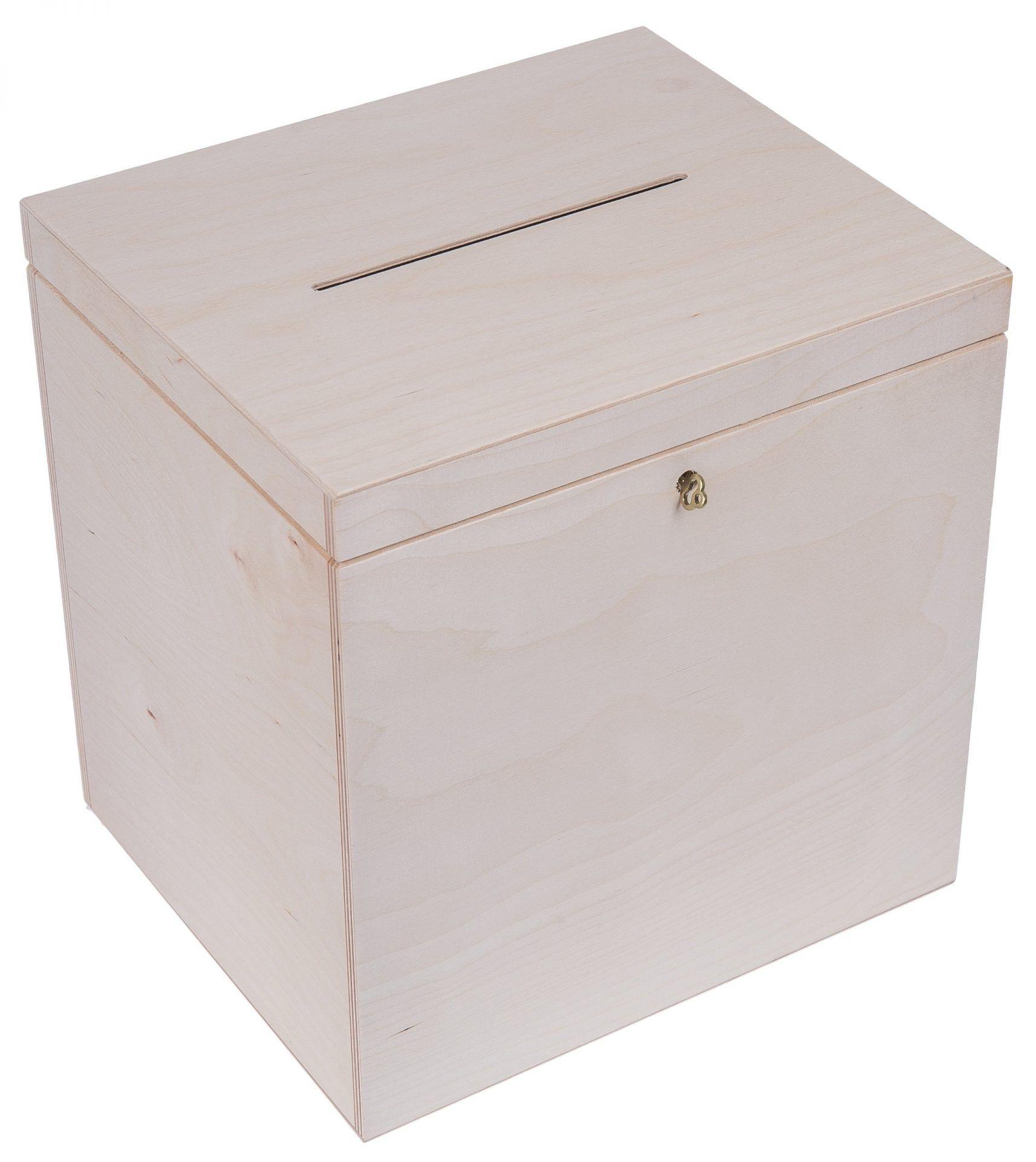 przykładowe pudełka drewniane na koperty weselne