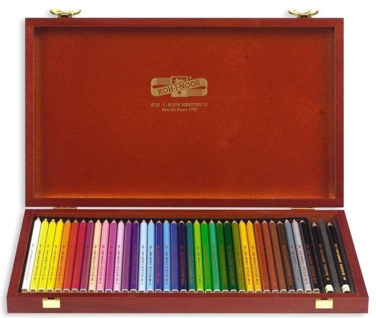 kredki koh-i-noor polycolor w drewnianej kasetce