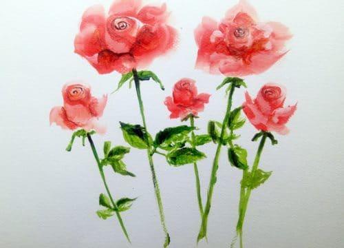 jak krok po kroku namalować różę