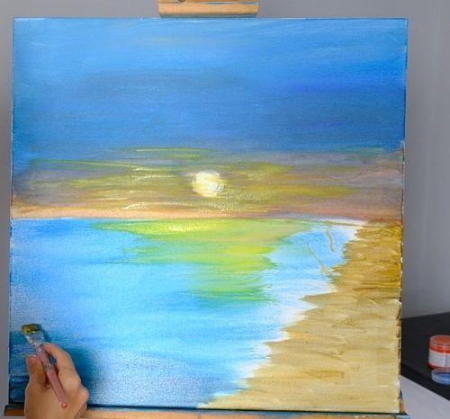 zachód słońca jak namalować