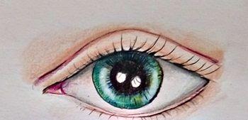 rysunek realistyczny oka