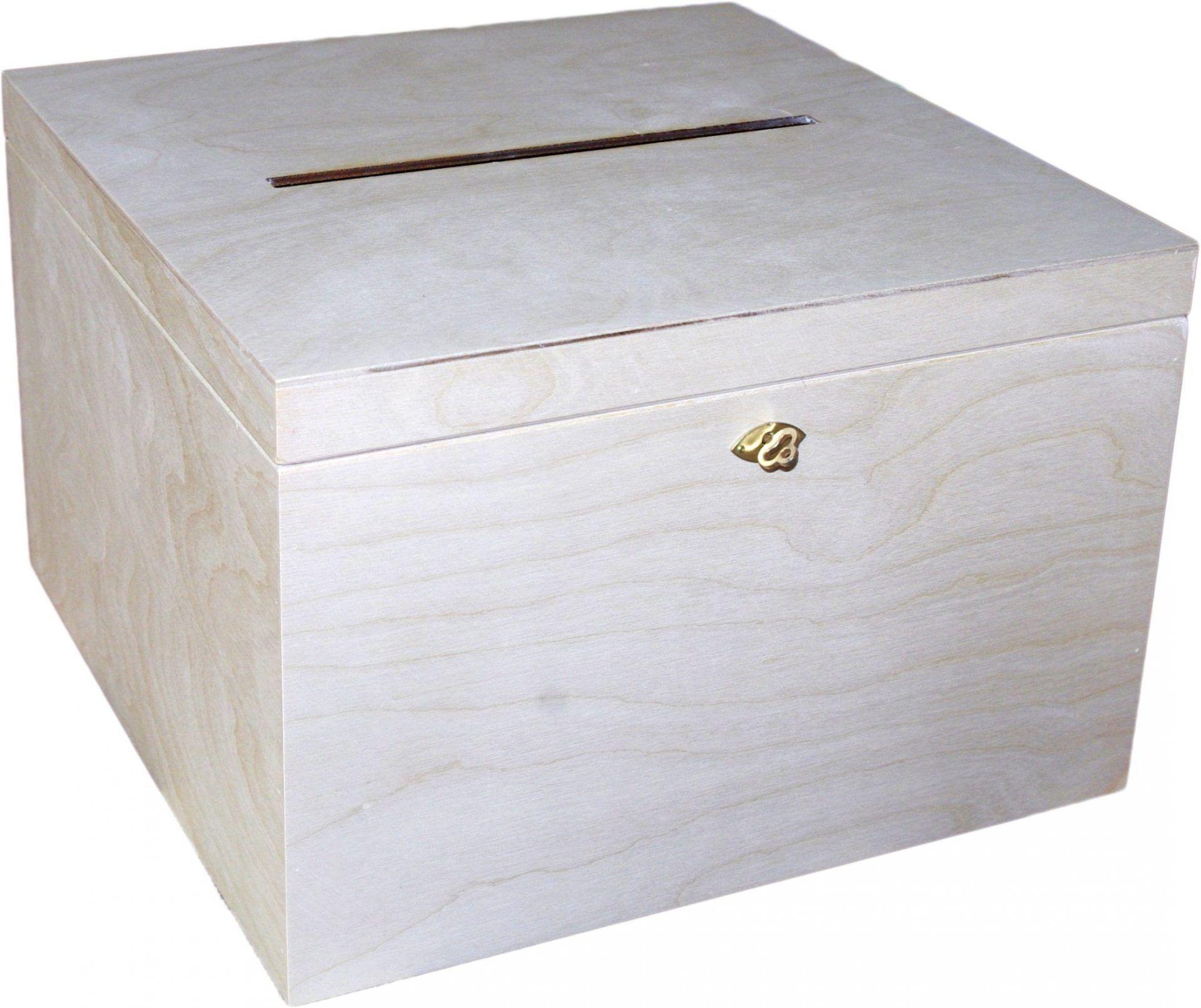 skrzynka na koperty ślubne z drewna
