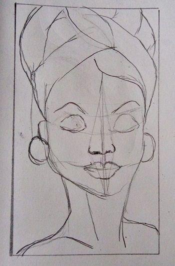 szkic kobiety ołówkiem