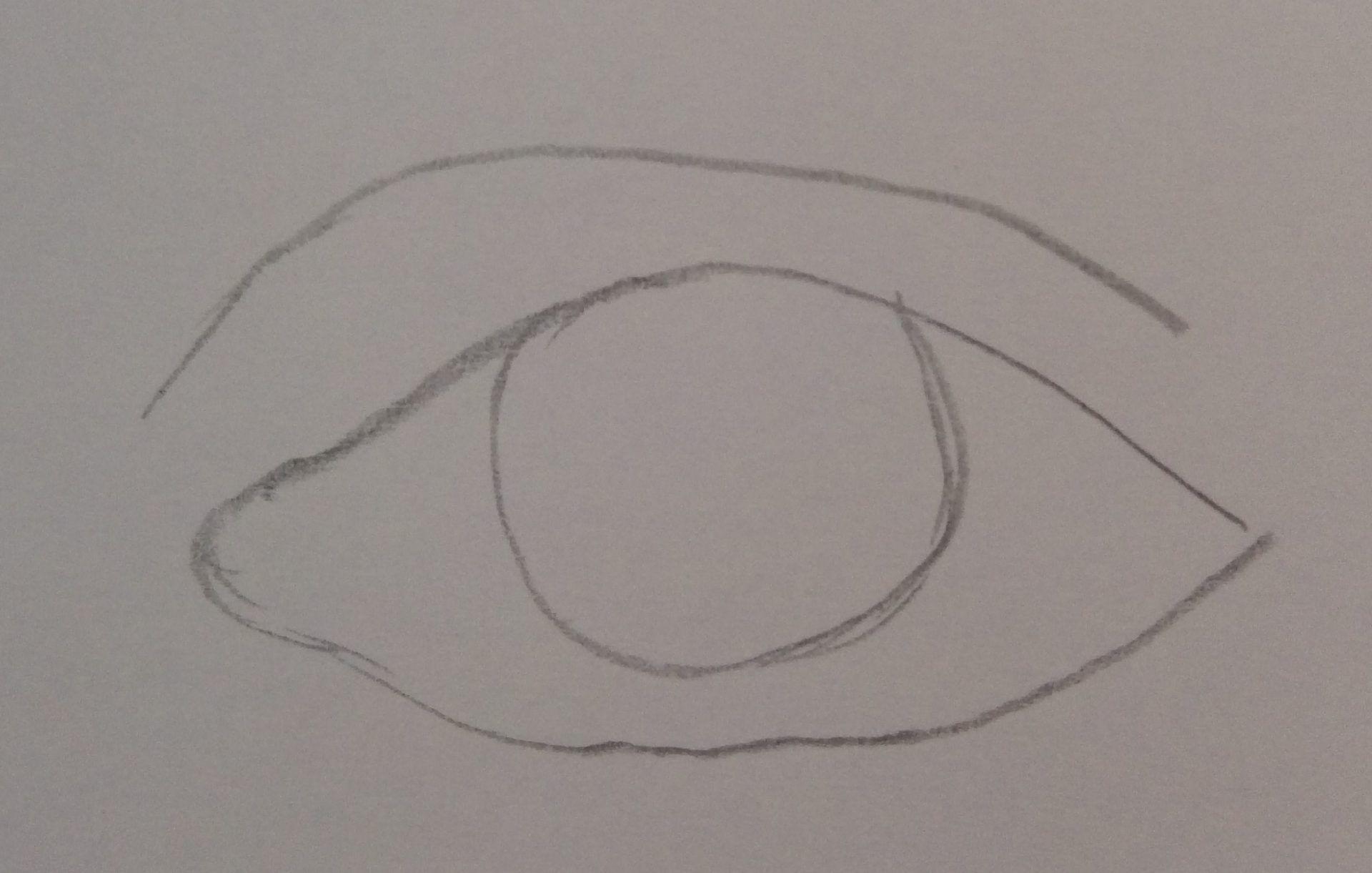 rysowanie kształtu oczu