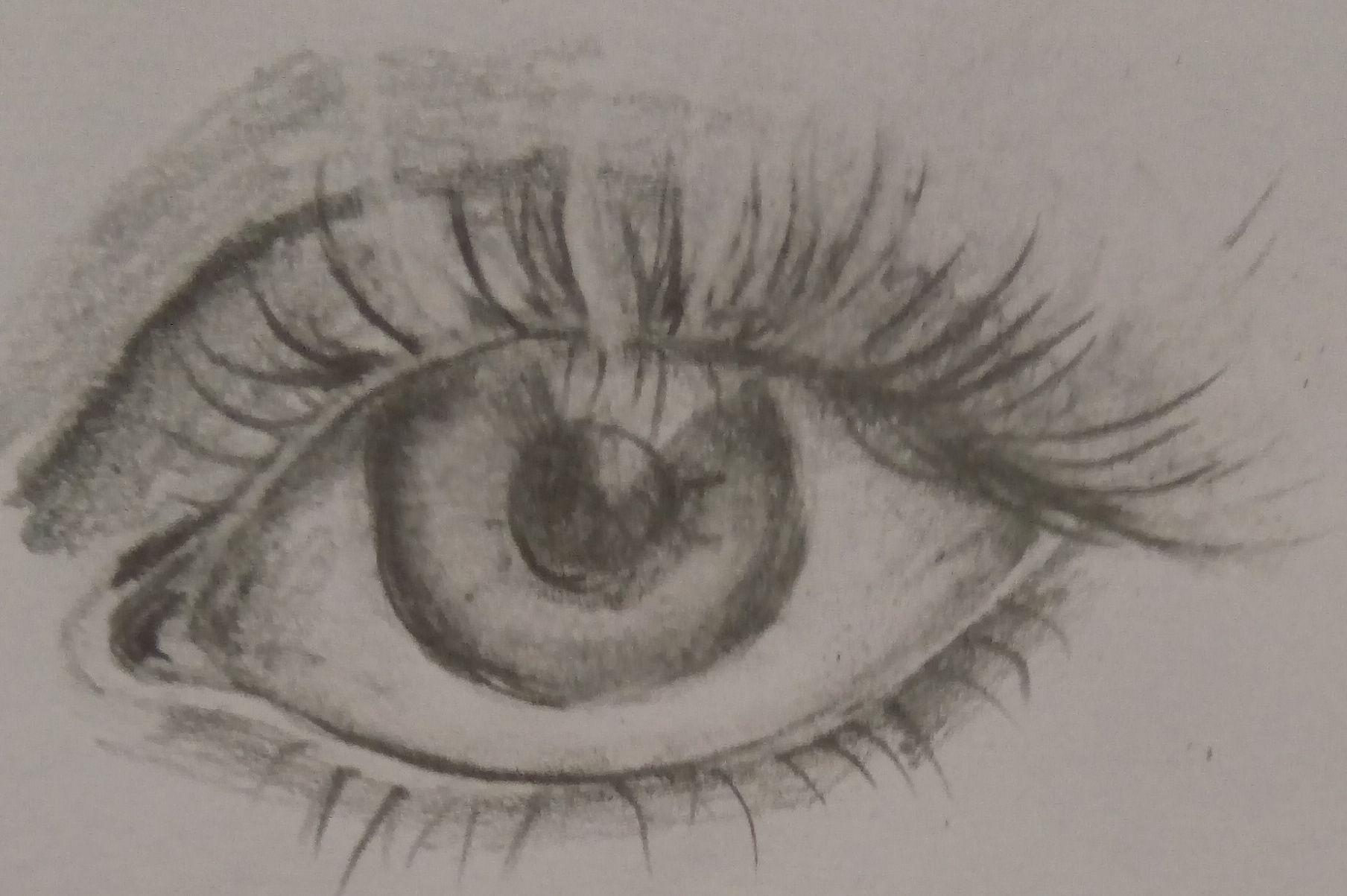 poprawianie rysunku oka