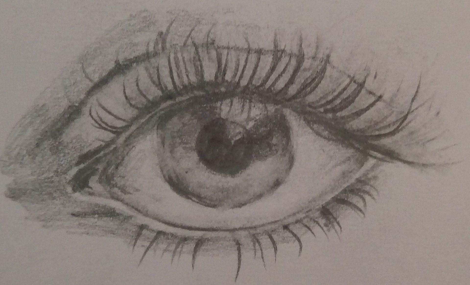 rysunek oka w 2017 roku