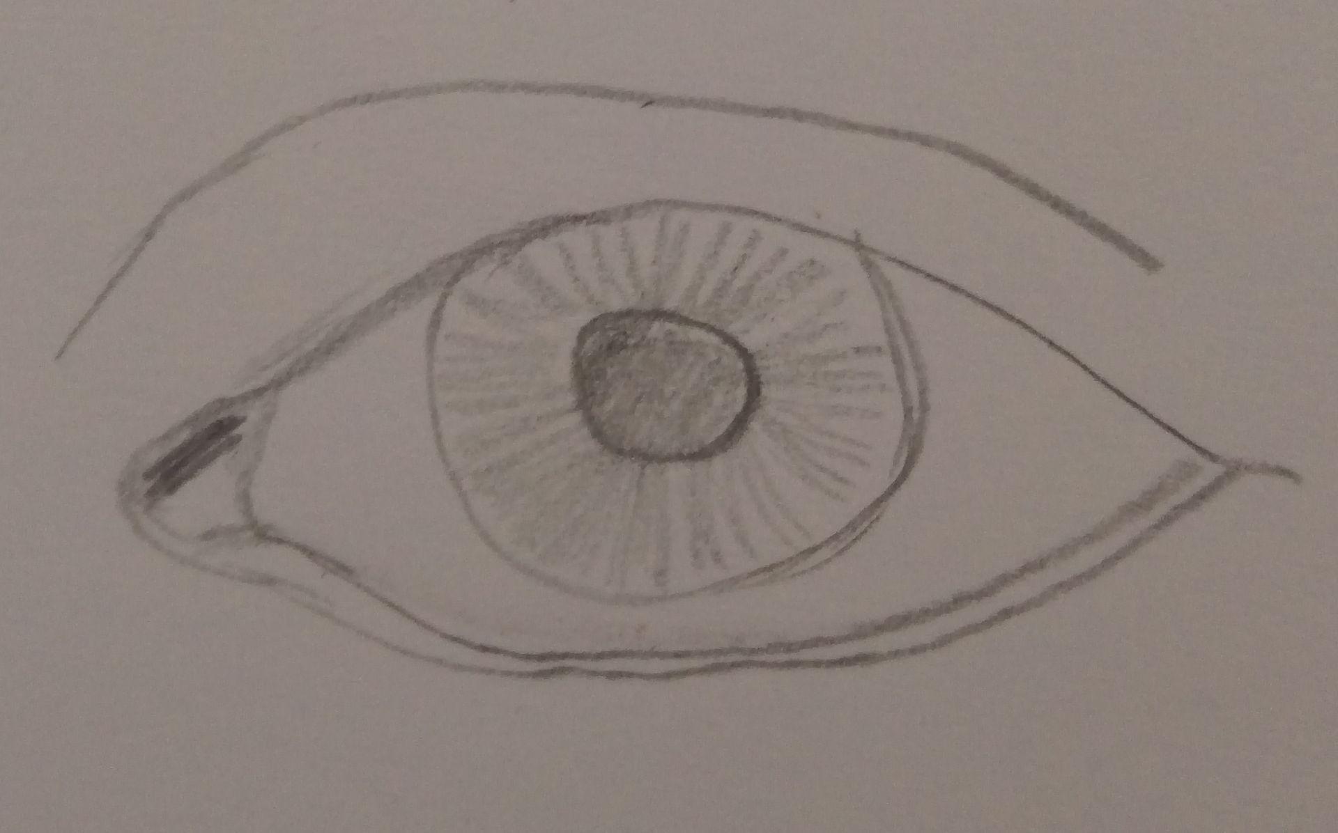 rysowanie szczegółów oka
