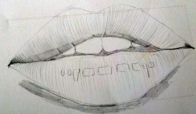 Jak narysować usta krok po kroku