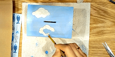 malowanie chmur dla dzieci